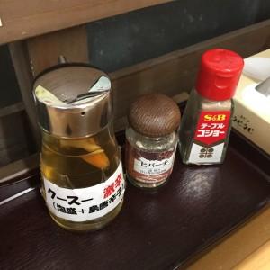 明石食堂の調味料