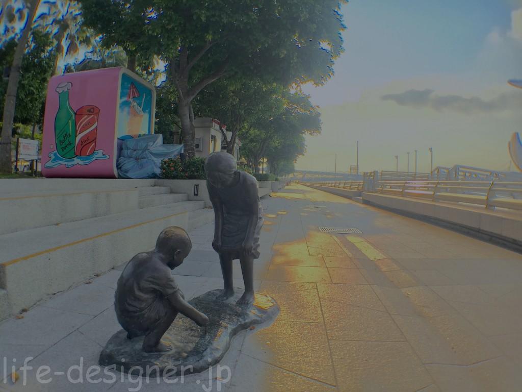 世界の絶景マリーナ・ベイ・サンズの早朝散歩