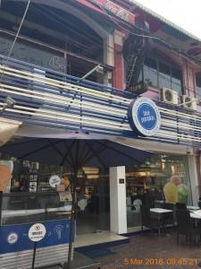 シェムリアップのオススメ無料WiFiスポット第3位 Blue Pumpkin(sivatha street店)の外観