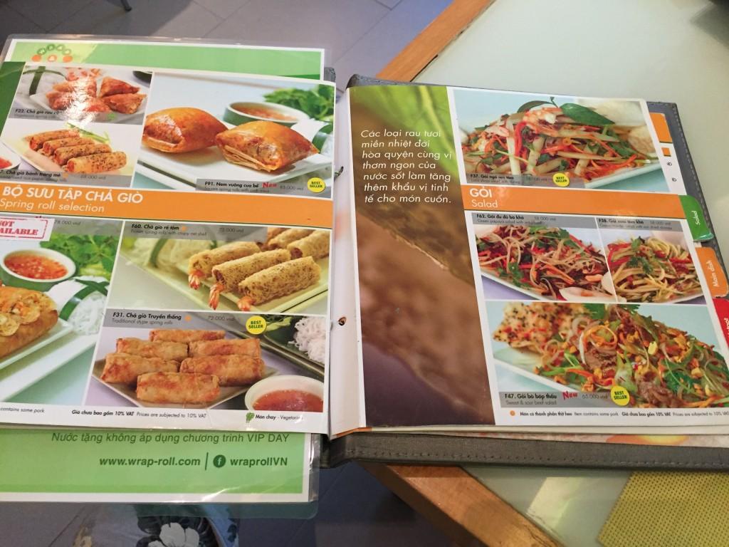 ベトナムのホーチミンで生春巻き食べるならWrap&Roll