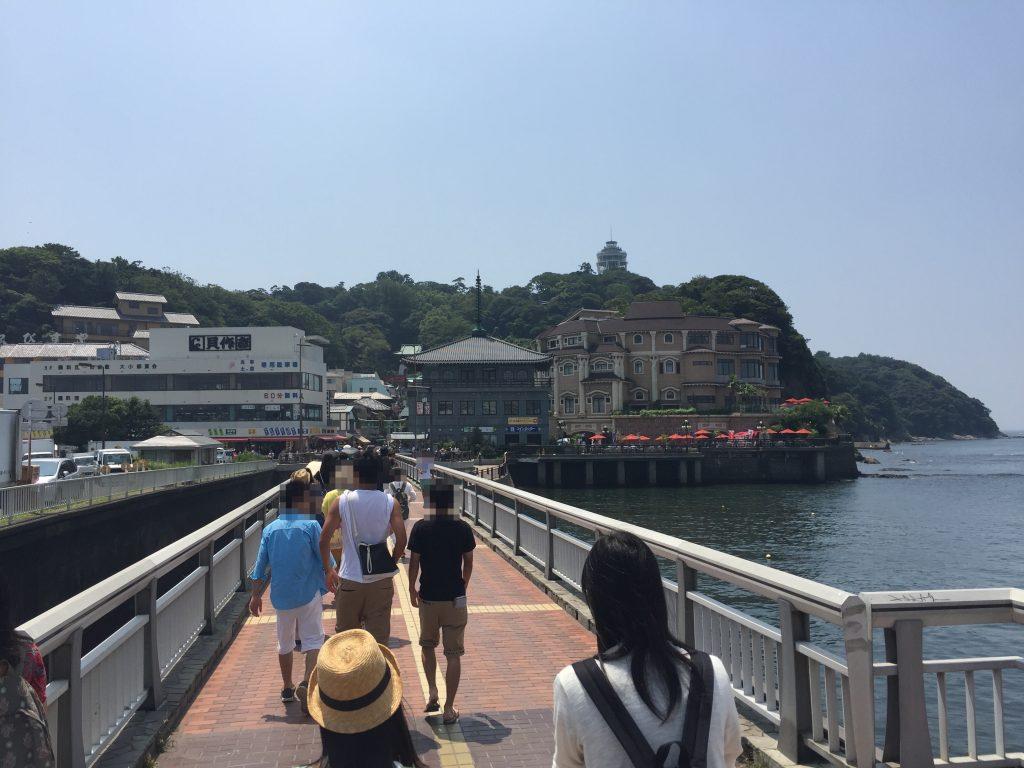 ポケモンGOで江ノ島の橋をわたる