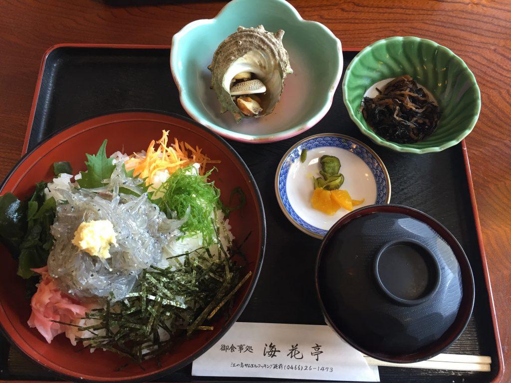 江ノ島の生シラス丼