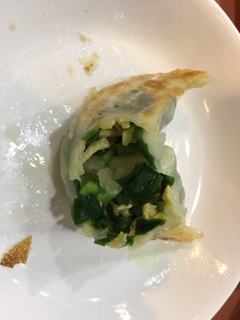 餃子太郎のニラ玉餃子