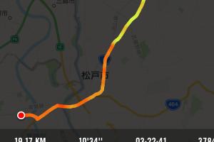 【通勤ウォーキング】19km、3時間22分