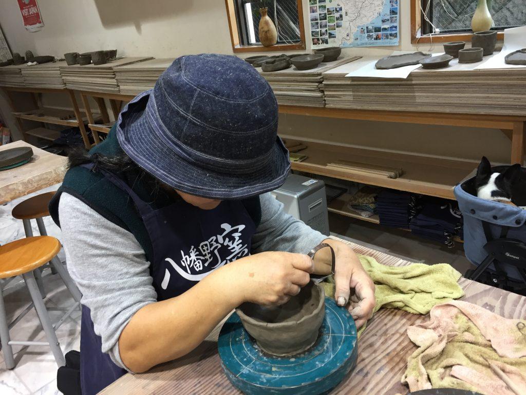 八幡野窯で陶芸体験