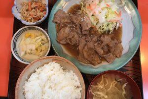綾瀬の超人気店「味安」の生姜焼き定食(870円)(再訪)