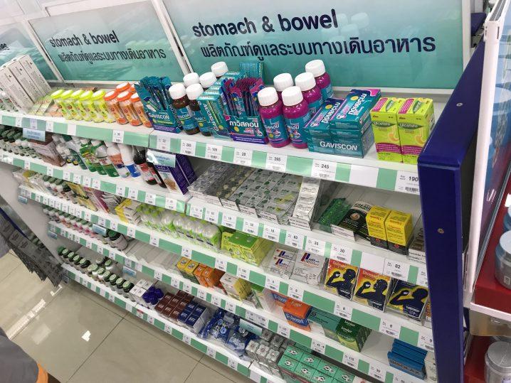 タイの薬局にある胃腸薬