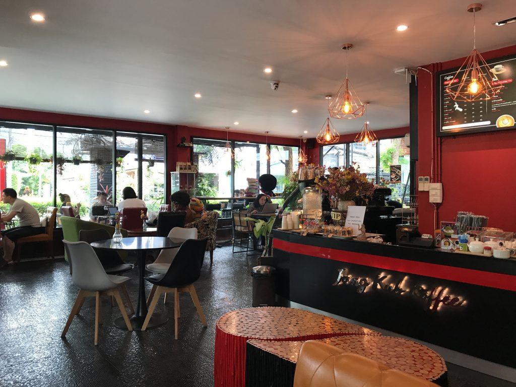 チェンマイの穴場カフェjang kub coffeeがお気に入り🌟