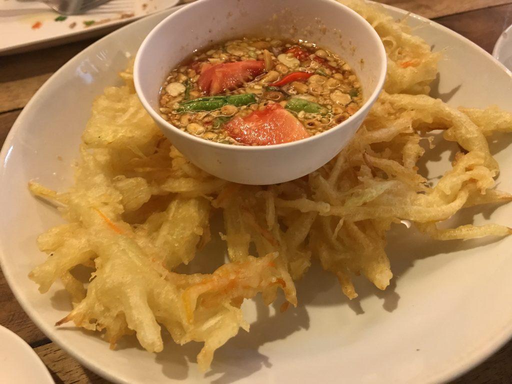 24. Thai Crispy Papaya Salad, 200円