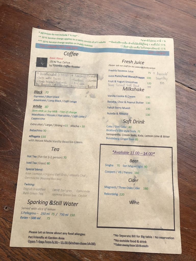 The Larder Cafe & Barのメニュー