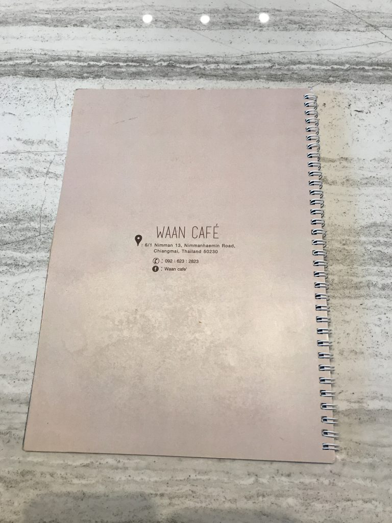 Waan Cafeのメニュー
