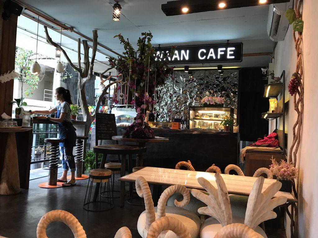 Waan Cafeの店内