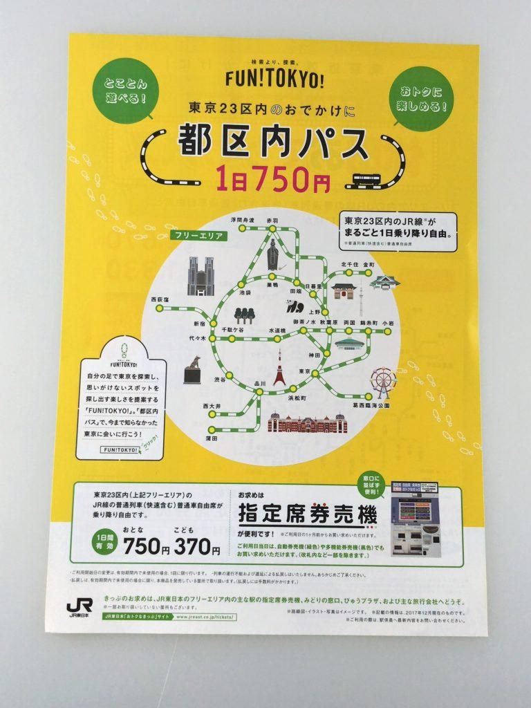 都区内パス(750円)