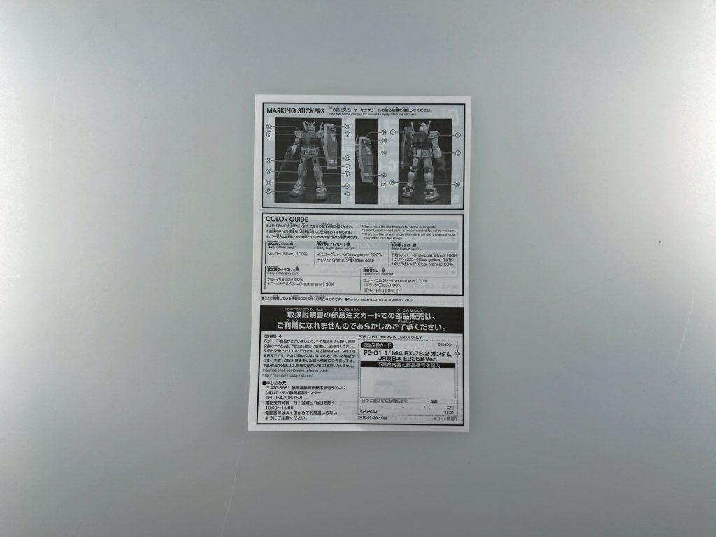 ④【65駅達成賞品】オリジナルガンプラ(FG1/144)