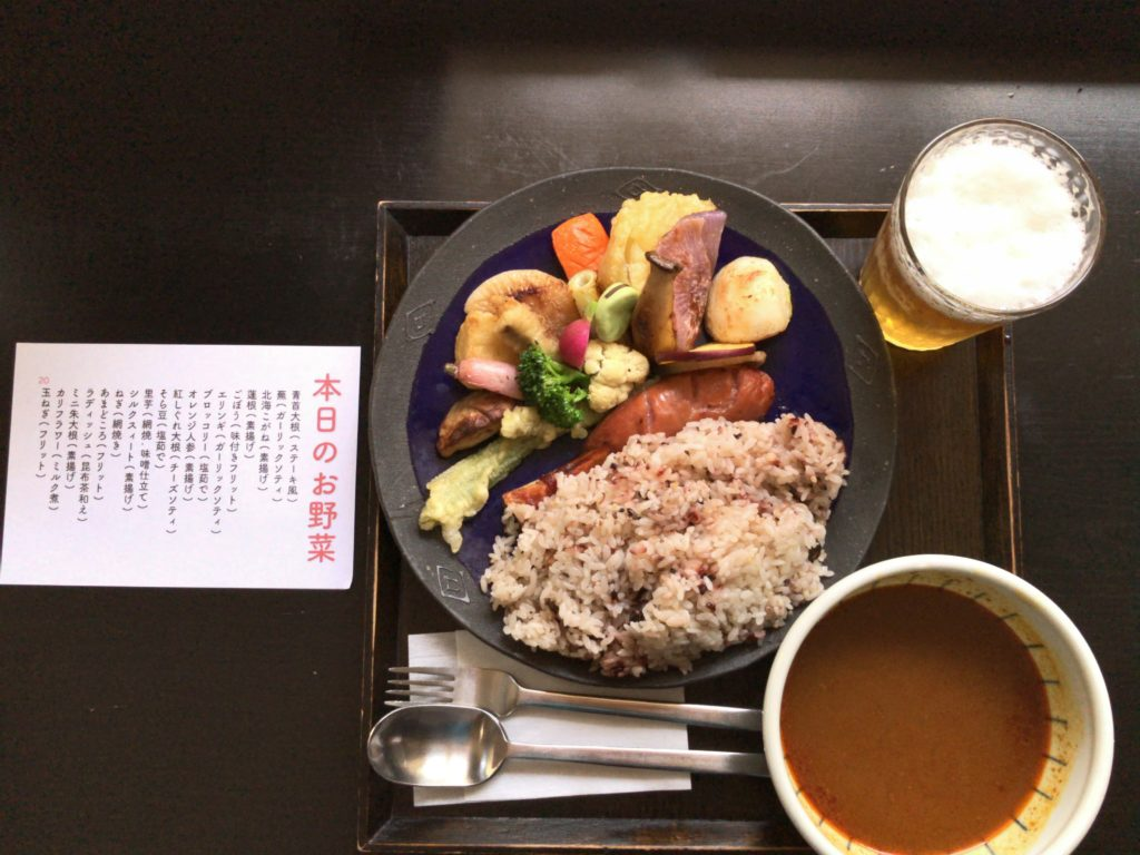 北鎌倉ぬふ・いちのスープカレー・ライス・ビールセット(2,100円)