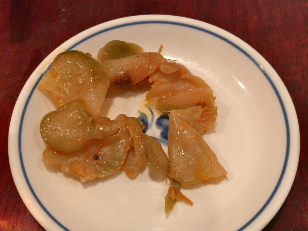 陳麻婆豆腐のザーサイ
