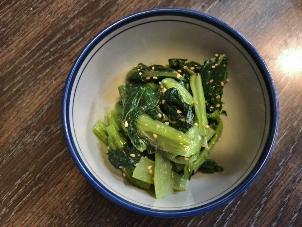 味安の小松菜のナムル(300円)