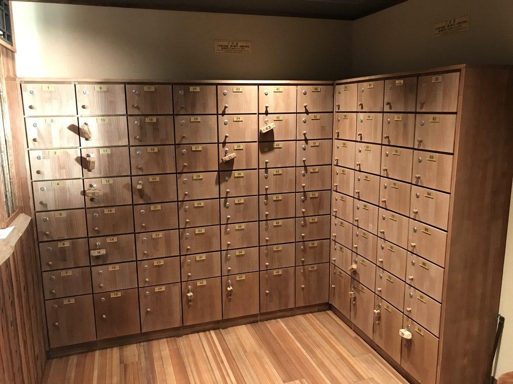 稲村ヶ崎温泉の靴ロッカー