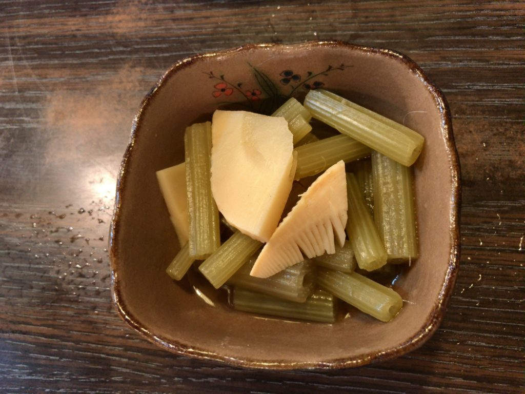 フキと筍煮(300円)