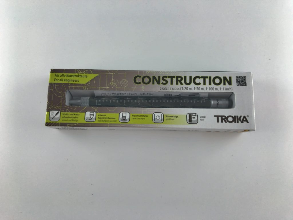 【多機能ペン】TOROICAのマルチボールペンCONSTRUCTIONの外箱