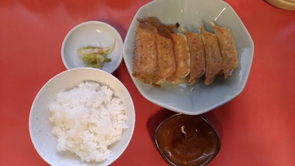 宇都宮みんみんの焼餃子+ライス