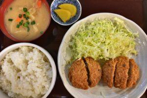亀有名物「亀有メンチ」は600円ランチがお得!