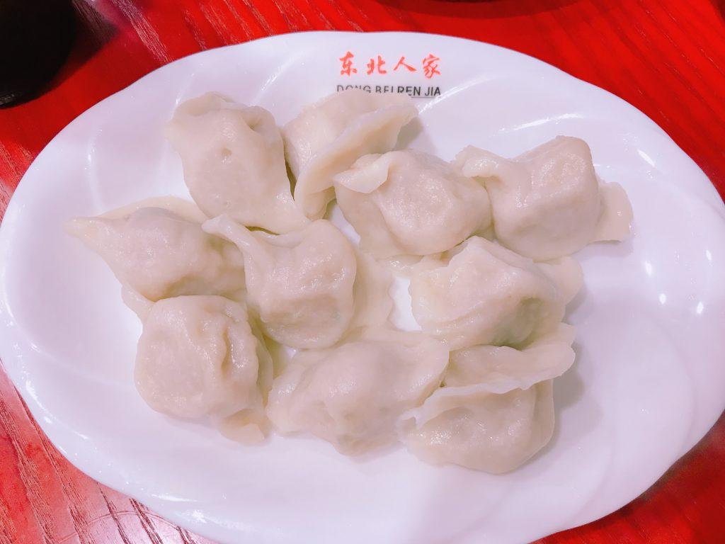 白菜豚肉水餃子10粒(480円)