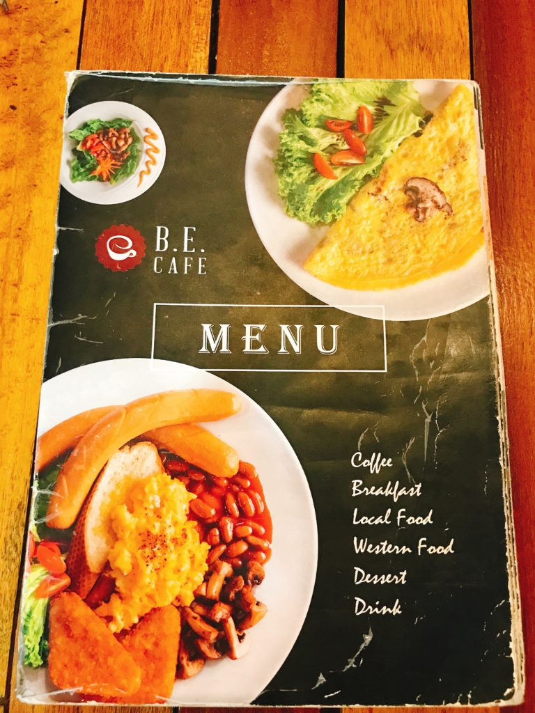 B.E. Cafeのメニュー