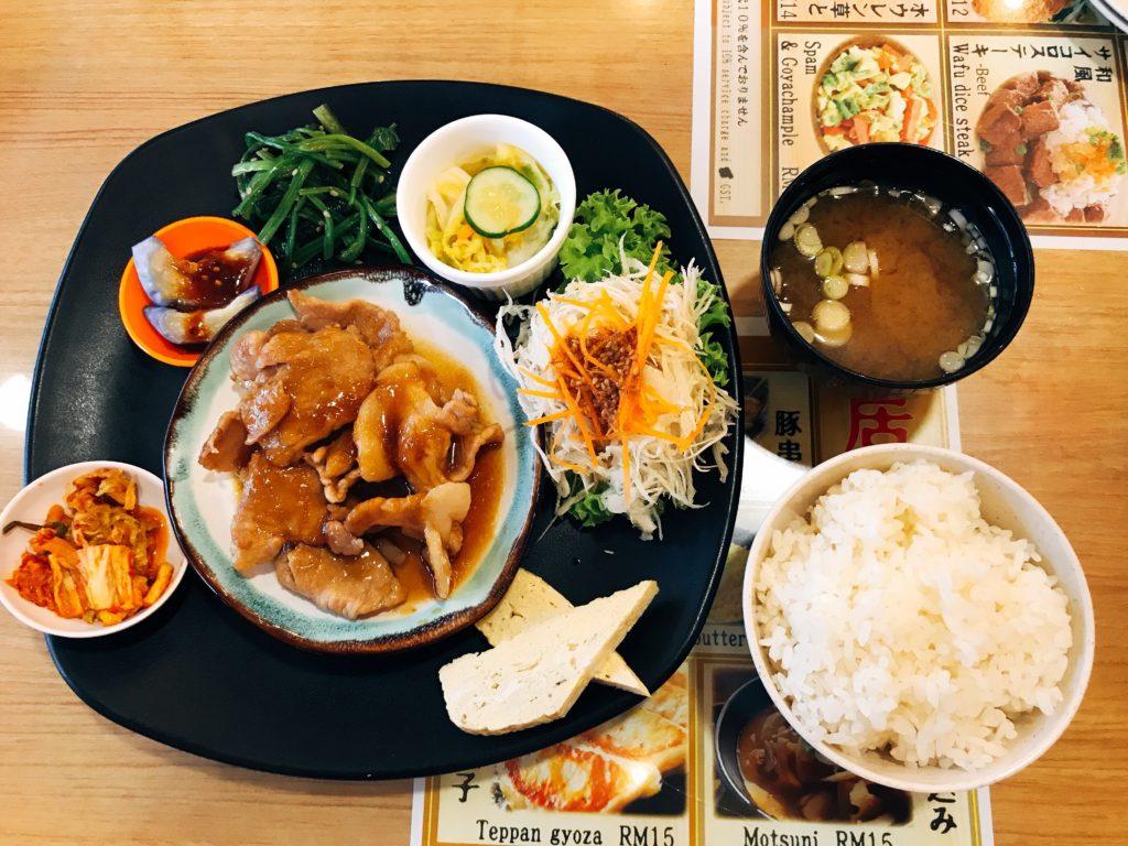 Kemuriの生姜焼き定食(450円)