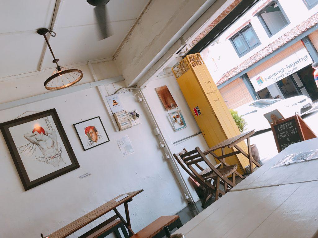 マラッカの穴場カフェOla Lavenderia cafeの店内