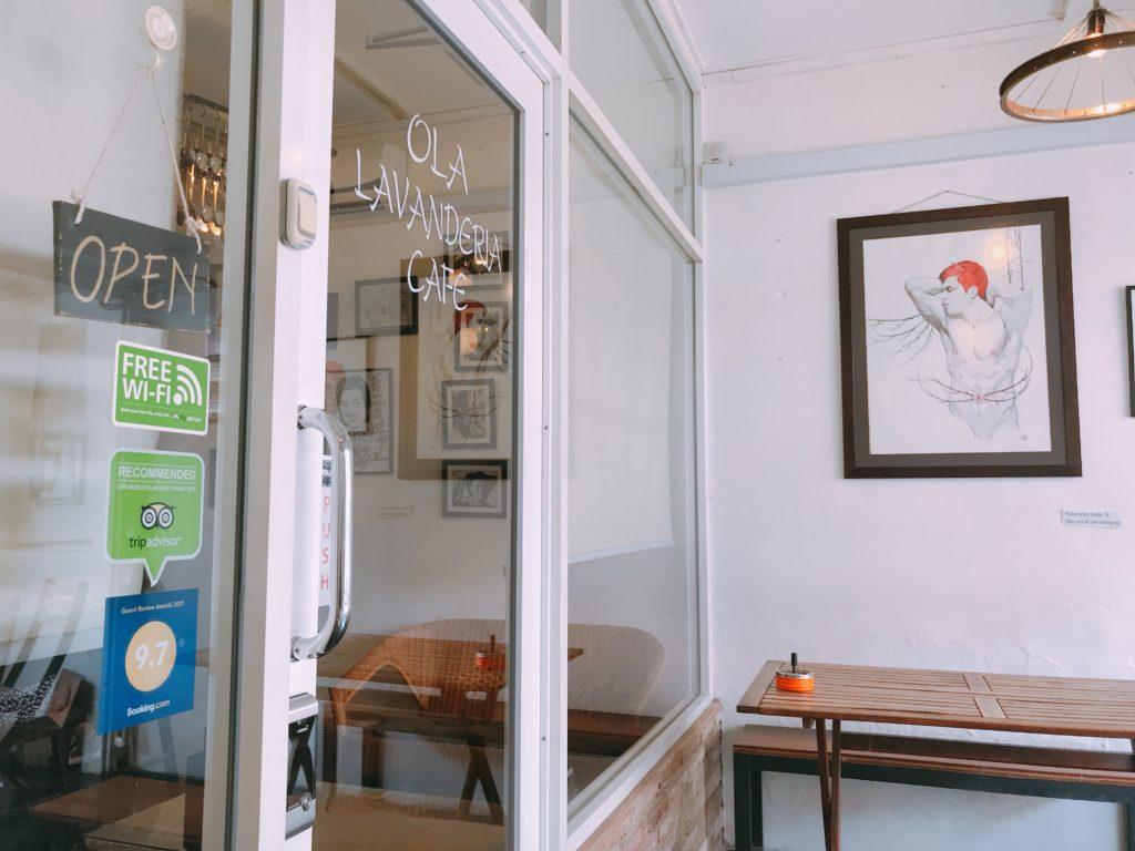 マラッカの穴場カフェOla Lavenderia cafeの外観