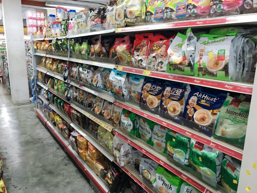 QQスーパーマーケットの店内