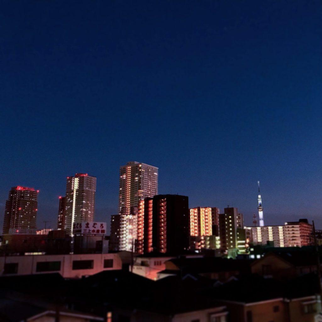 サムライズ・コワーキングベース屋上からの夜景