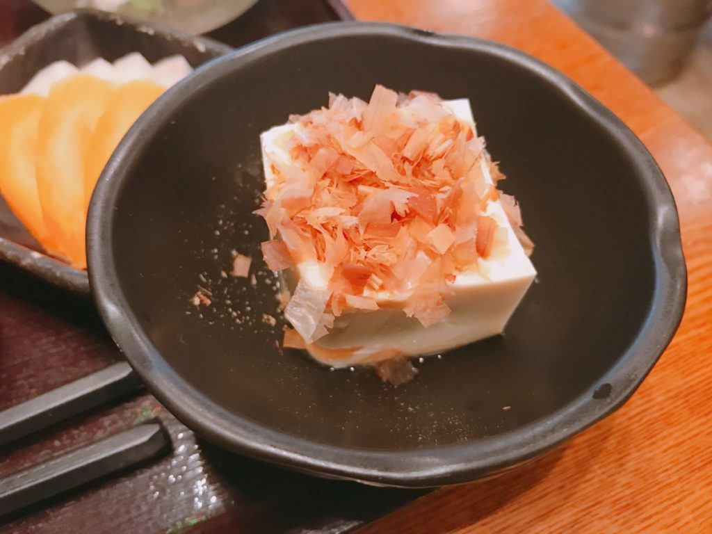 ここのつのセットの豆腐