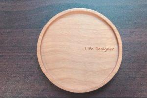 Hacoaの木製オリジナルコースター(1,700円)がお洒落で可愛い✨