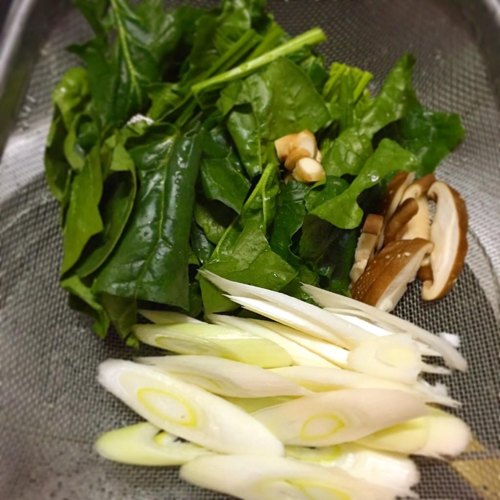 酸辣湯の野菜