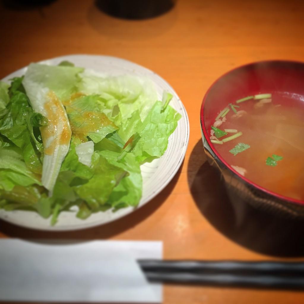 金舌のサラダとスープ