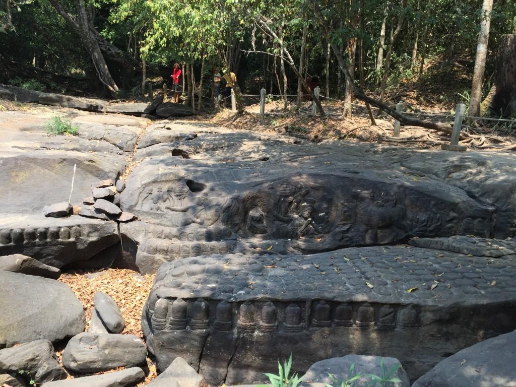 アンコール遺跡群の世界遺産クバール・スピアン