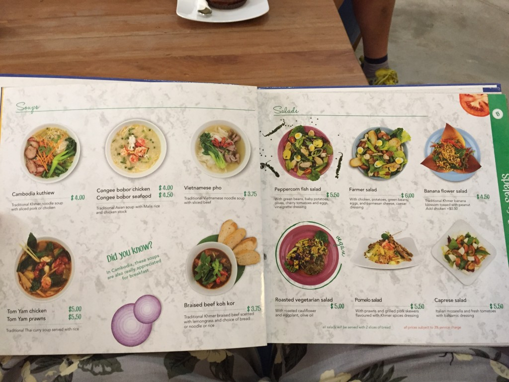 シェムリアップのオススメ無料WiFiスポット第2位 Blue Pumpkinのクメール料理