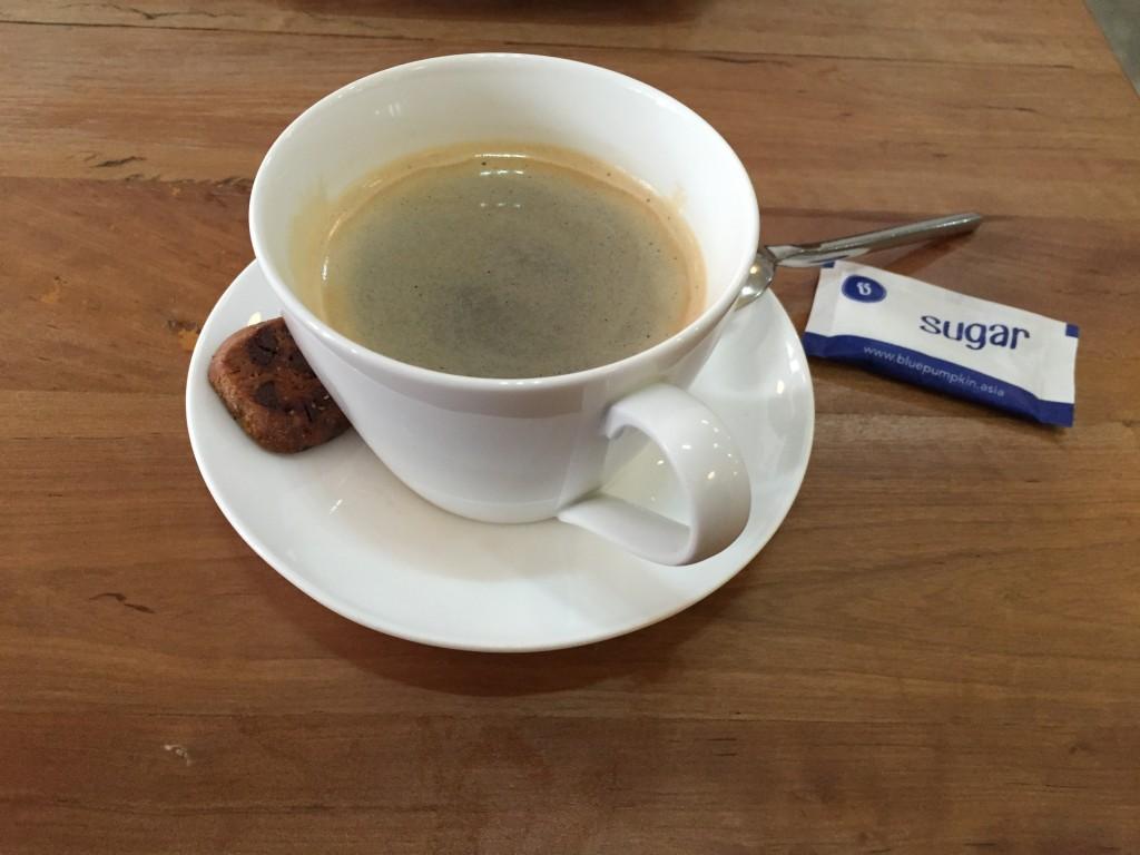 シェムリアップのオススメ無料WiFiスポット第2位 のBlue Pumpkinはホットコーヒーが安くておいしい!