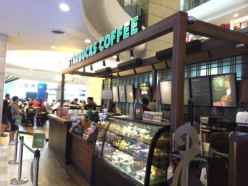 バンコクのアソーク駅Terminal21のスタバで無料WiFi
