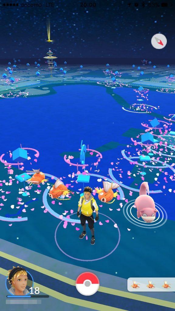 上野公園でポケモンGO