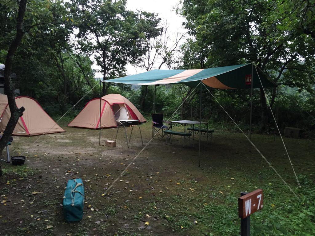 テントの張り方慣れてきた