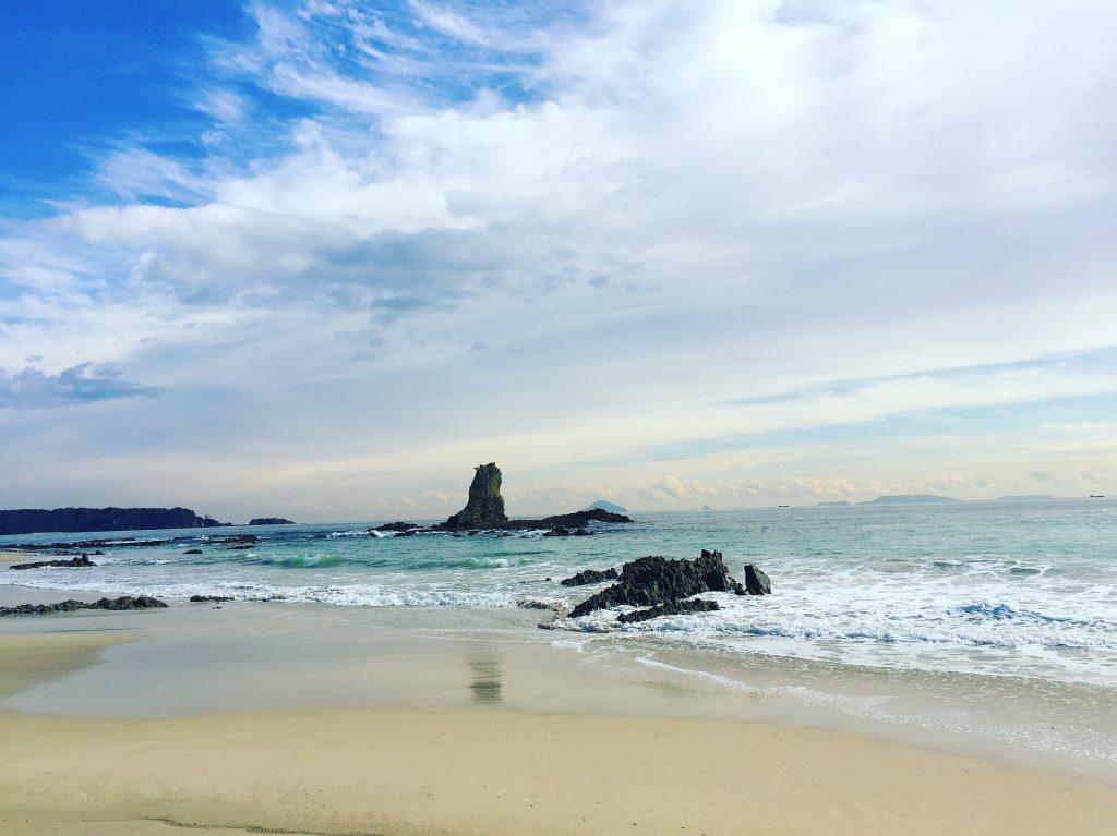 【auの三太郎CM】コマーシャルロケ地の大浜海水浴場(海岸)行ってみた!