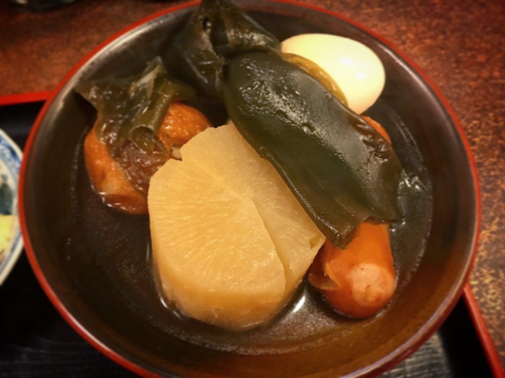 【亀有】まづいやのランチで「おでん定食(¥800)」を食べてきた