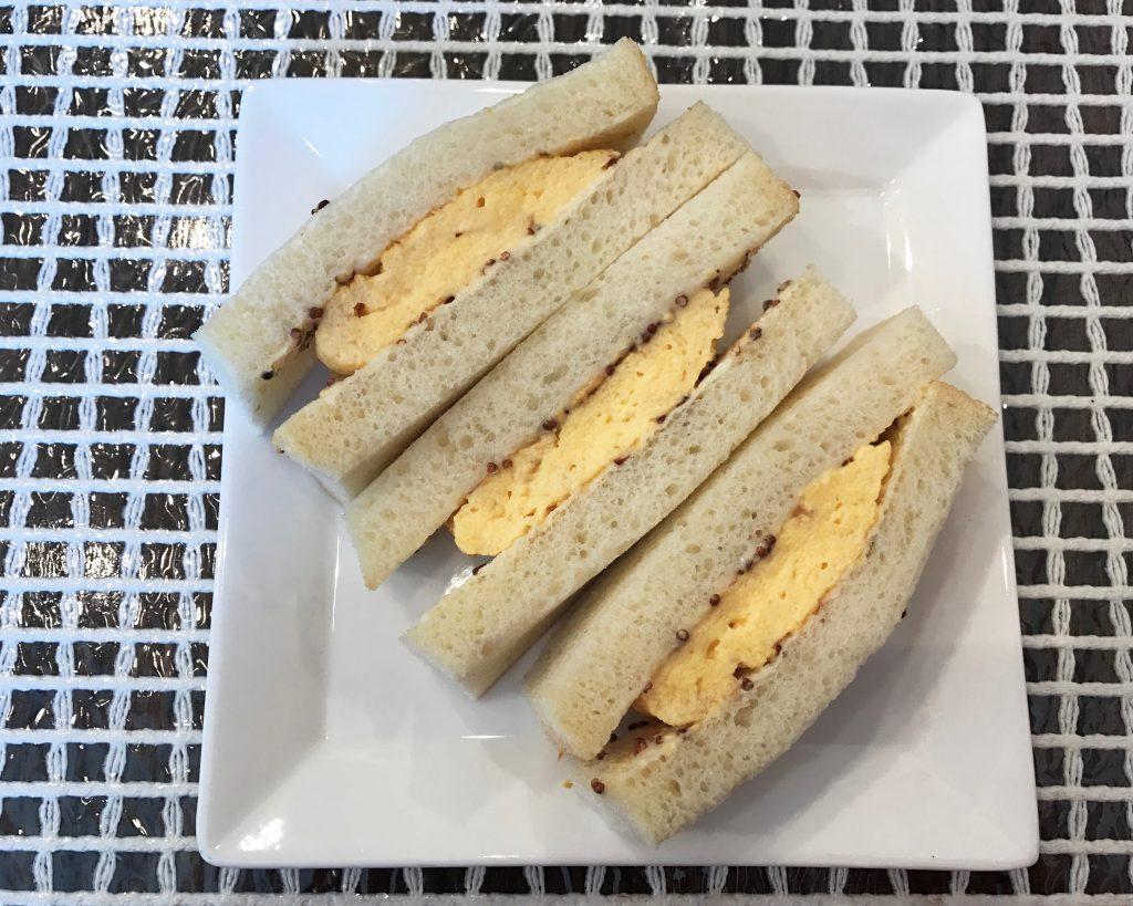 サンドサンドの厚焼き玉子サンドがふわっふわでおいしい✨