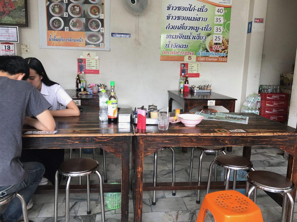 カオソーイ人気店Khao Soi Mae Saiの店内