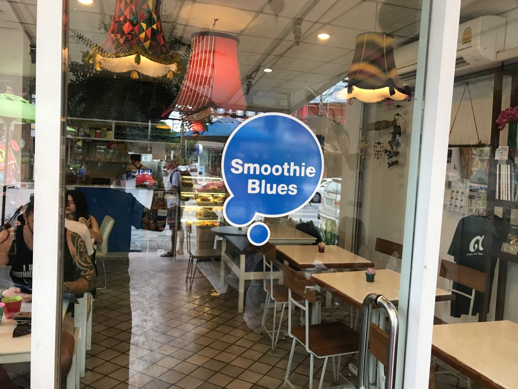 Smoothie Bluesの店内