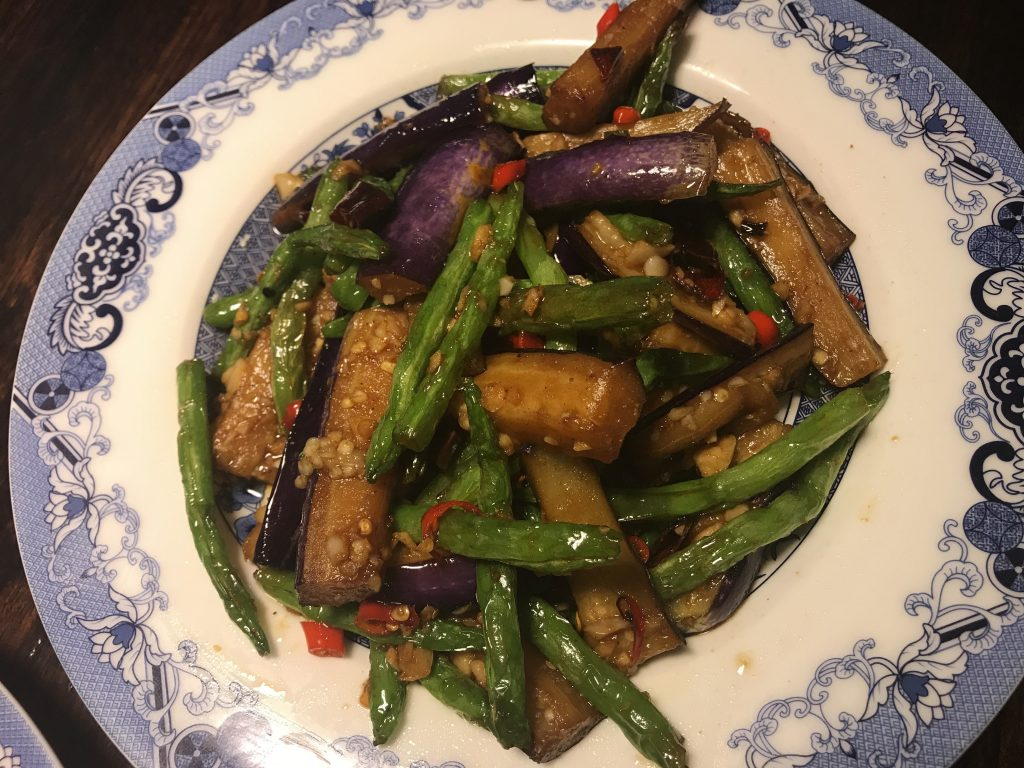 ⑬ 豆角焼茄子 Fried Beans Eggplant With Spicy(160B)