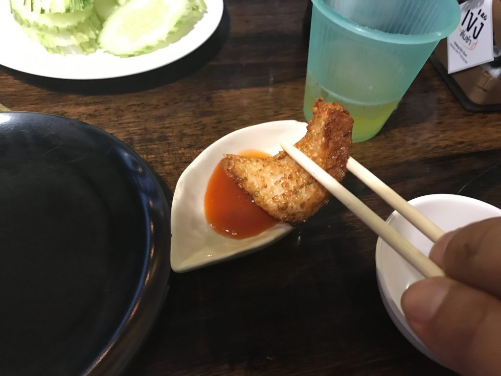 47. Deep Fried Shrimp Toast(130円)